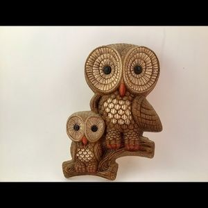 Other - This is a vintage owl with Her darling baby owl.